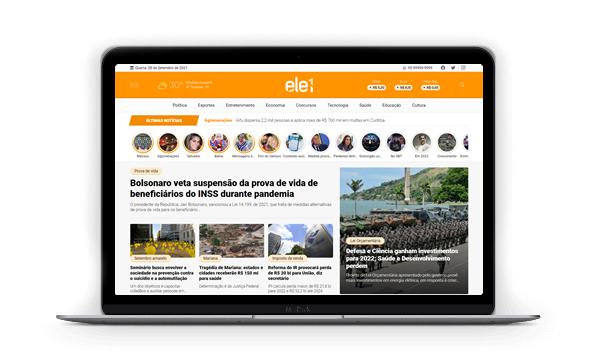 Criar site de notícias com Ele1
